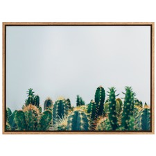 Just Try & Cactus Canvas Wall Art
