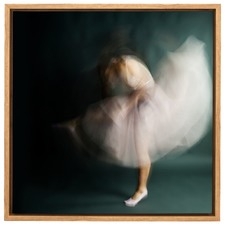 The Softest Strength Ballerina Canvas Wall Art