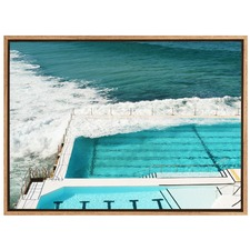 Cool & Inviting Ocean Pool Canvas Wall Art