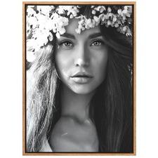 White Flower Crown Canvas Wall Art