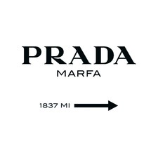 Prada Marfa Canvas Wall Art