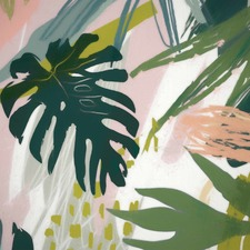 Tropical Collage I Canvas Wall Art