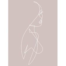 Blush Femme Canvas Wall Art