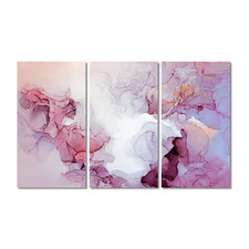 Cherry Blossom Stretched Canvas Wall Art Triptych