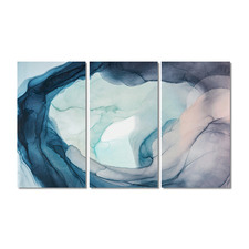 Ground Swell Stretched Canvas Wall Art Triptych