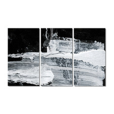 Shades Of White Stretched Canvas Wall Art Triptych