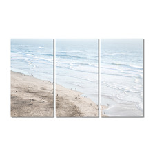 Seashore Stretched Canvas Wall Art Triptych