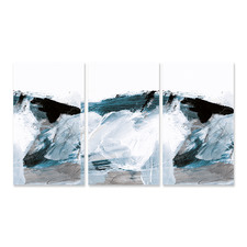 Oceans Stretched Canvas Wall Art Triptych
