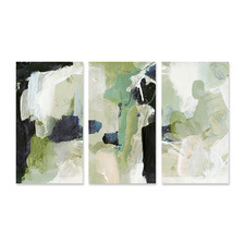 Lush Stretched Canvas Wall Art Triptych