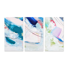 Sunlight Stretched Canvas Wall Art Triptych