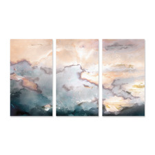 Above Stretched Canvas Wall Art Triptych
