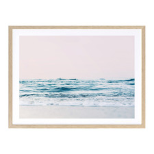Gazing Over The Ocean Edge Printed Wall Art