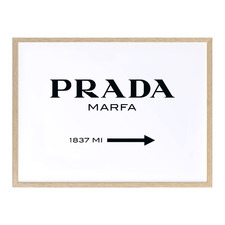 Prada Marfa Printed Wall Art