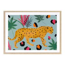 Walking Cheetah Printed Wall Art