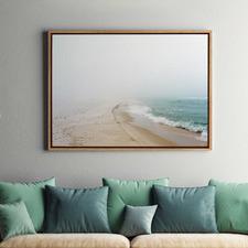 Infinite Beach Stretch II Canvas Wall Art