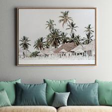 Beach Hut Canvas Wall Art