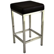 Nathaniel 65cm Stool With Stainless Steel Frame (Set of 2)