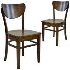 Lynda Rubber Wood Dining Chair (Set of 2)