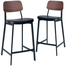 65cm Maddie High Back Padded Stools (Set of 2)