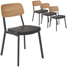 Maddie Natural Faux Leather Dining Chair (Set of 4)