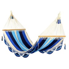 Large Crocheted Trim Hammock