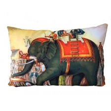 Performing Elephants Cushion Cover