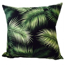 Noir Palm Cushion Cover