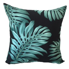 Monstera Black Cushion