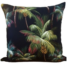 Palmtree Black Cushion