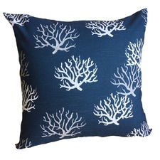 Indigo Coral Cushion