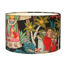 Frida's Garden Black Lampshade