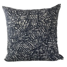 Indigo Palmeria Cotton Cushion