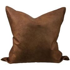 Tan Vegan Leather Cushion