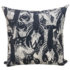 Indigo Crays Cotton Cushion
