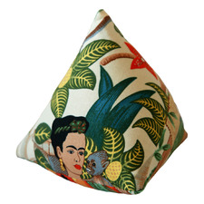 Natural Frida's Garden Cotton Door Stop