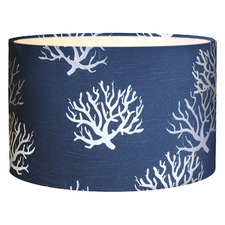 Indigo Coral Cotton Lamp Shade
