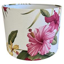 Pink Hibiscus Lamp Shade