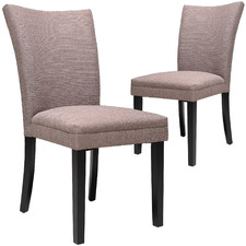 Rose Taupe Linda Dining Chairs (Set of 2)