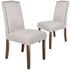 Beige Lucas Upholstered Dining Chairs (Set of 2)