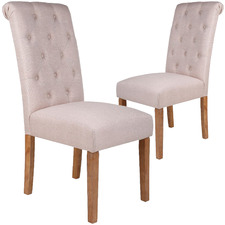 Light Tan Deny Dining Chairs (Set of 2)