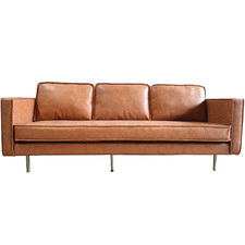 Bondi 3 Seater Faux Leather Sofa