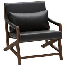 Black Simon Faux Leather Armchair