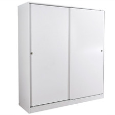 White Iluka Sliding 2 Door Modular Wardrobe