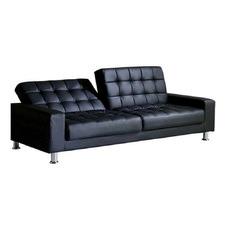Black Ava Faux Leather Sofa Bed