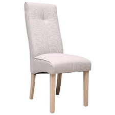 Cream Tony Linen Dining Chair