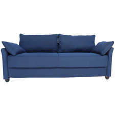 Blue Newport 3 Seater Upholstered Sofa with Storage