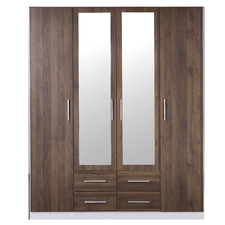 Talinis Wardrobe With Mirrored Doors