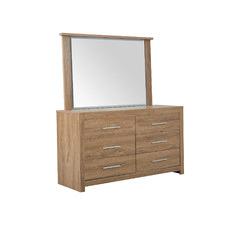 Maddington 6 Drawer Dresser with Mirror