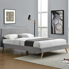 Grey Tegan Upholstered scandi Bed Frame
