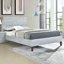 Light Grey Pollino Velvet Bed